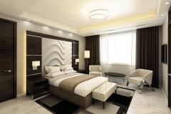 Стеновые 3D панели в спальне