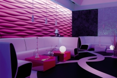 Стеновые 3D панели в клубе