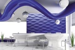 Стеновые 3D панели в кафе