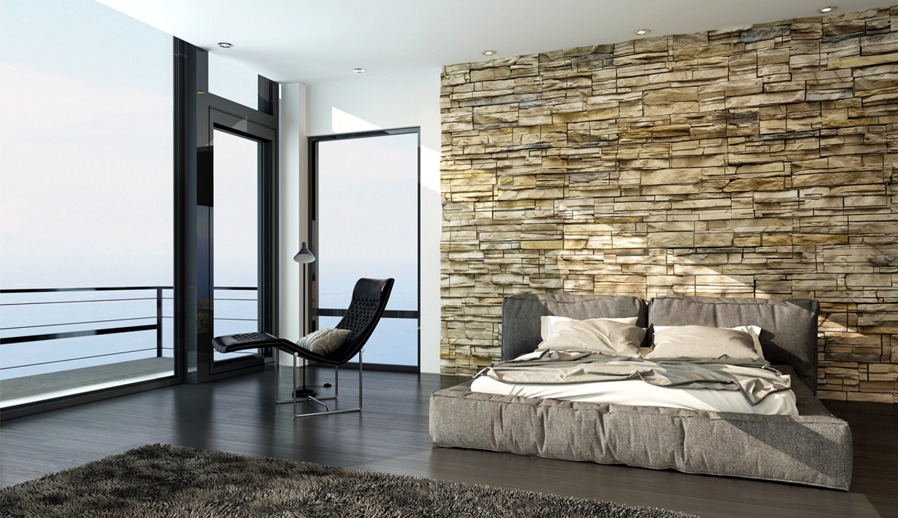 3D стеновые панели в интерьере