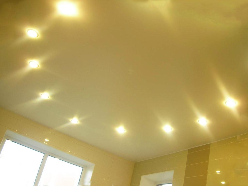 светильники на потолке в форме овала