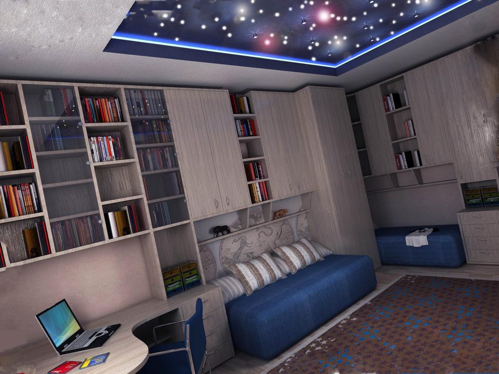 Светящиеся звезды на потолке