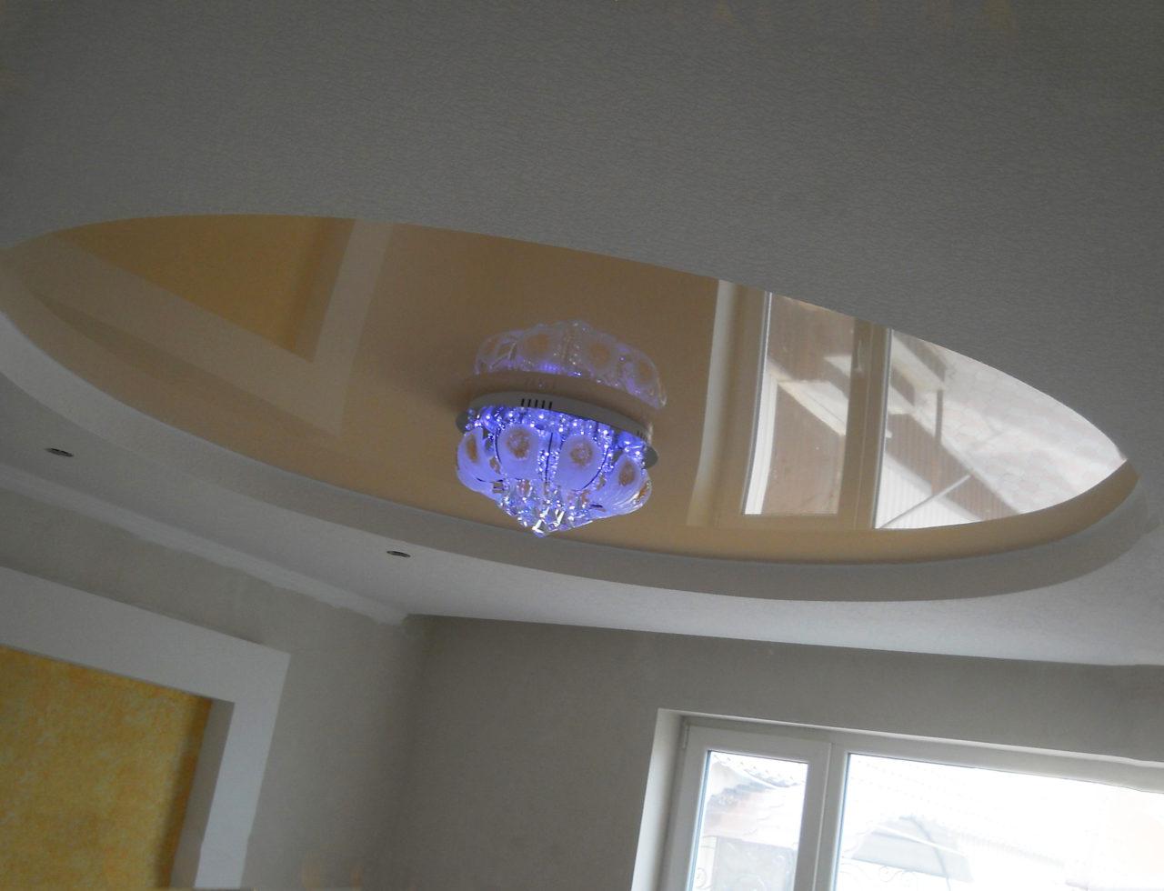 Натяжные потолки в форме круга
