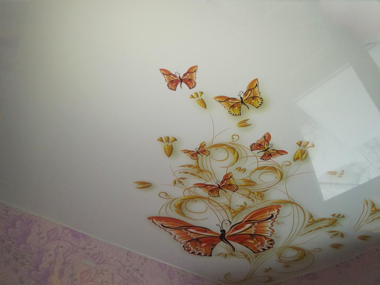 Красивые натяжные потолки с рисунками
