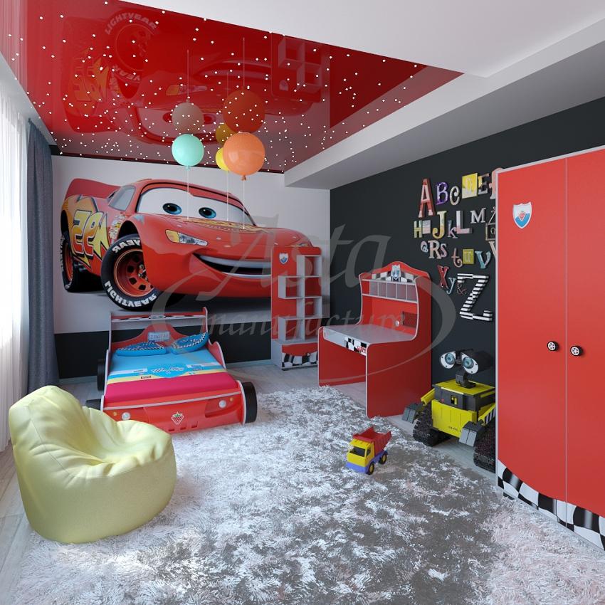 """Дизайн потолка """"звездное небо"""" в детской комнате"""