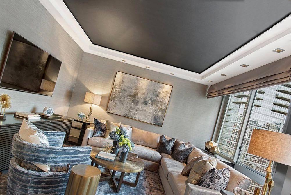 Темные потолки в дизайне квартиры