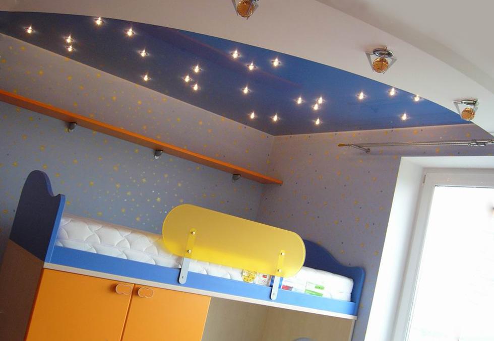 дизайн потолков в детской
