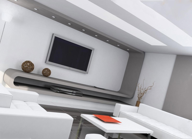 Дизайн потолков в стиле хай-тек
