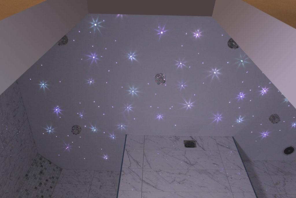 «Звездное небо» на натяжном потолке