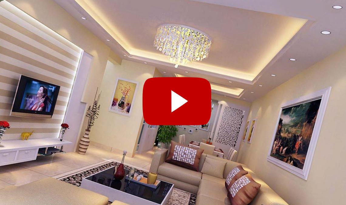 «Парящий» натяжной потолок в интерьере