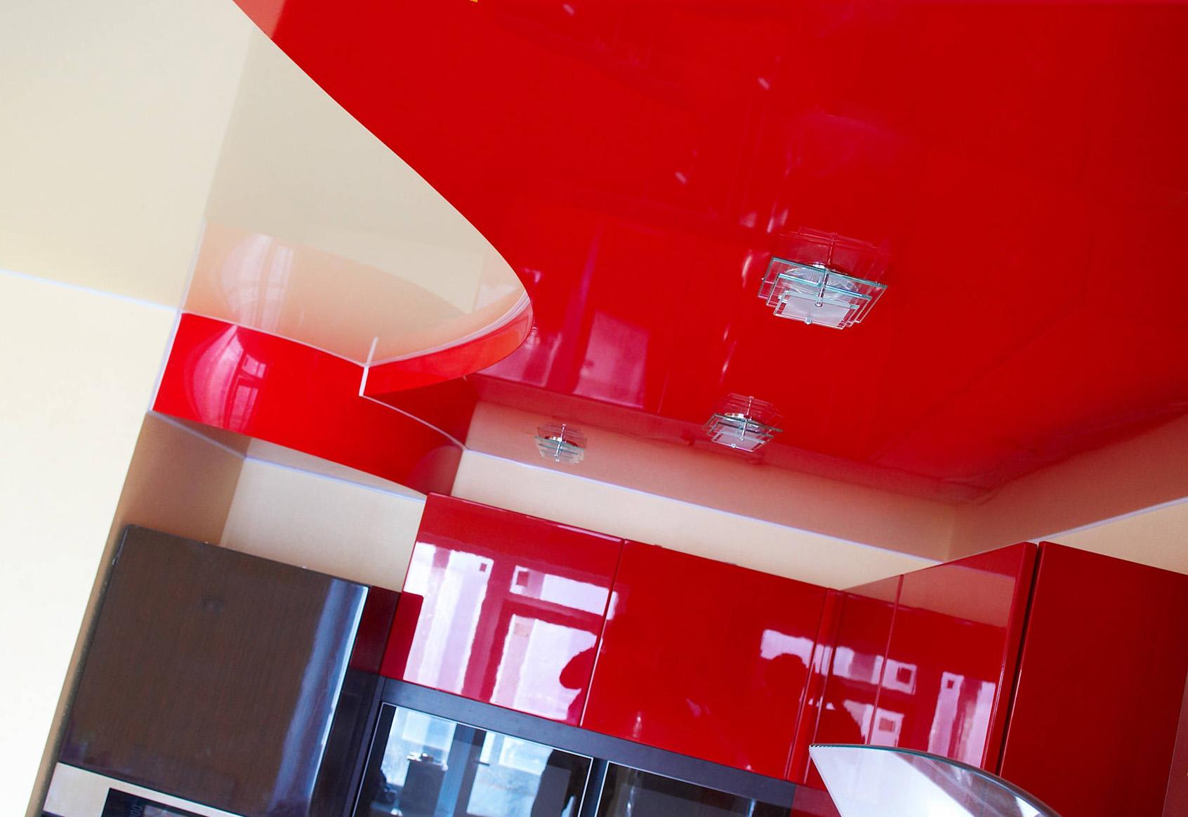 формы натяжных потолков
