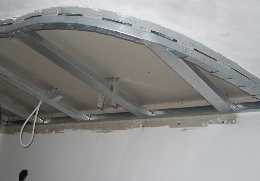 создание криволинейного потолка