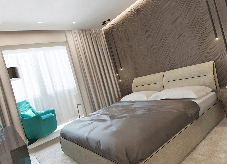 3D-панели в интерьере спальни