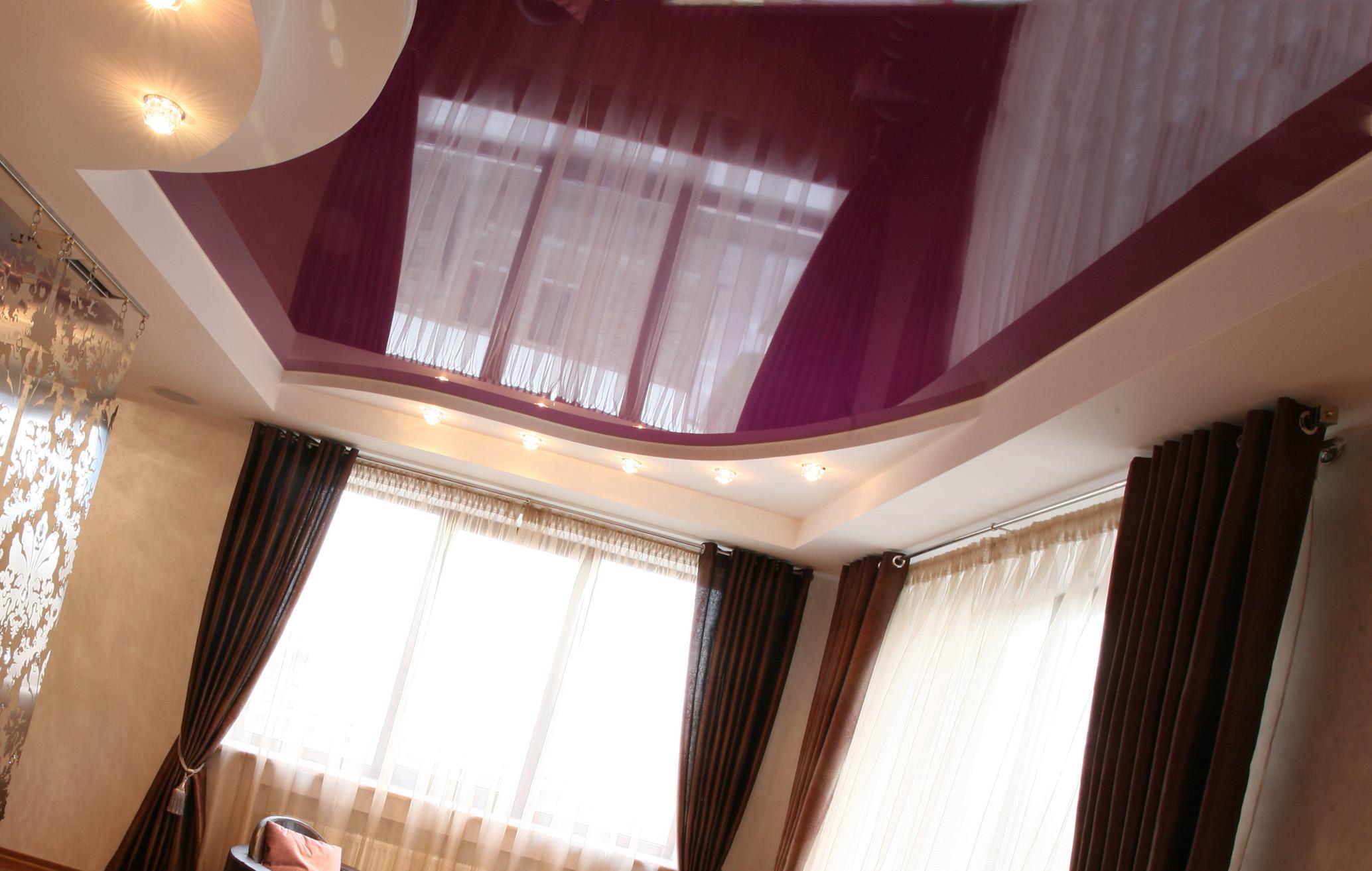 Отличия и общие качества винилового и тканевого потолка