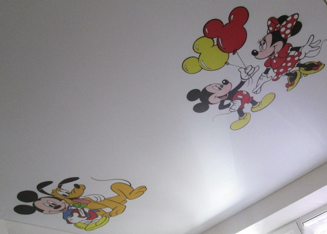 Натяжные потолки с детскими рисунками