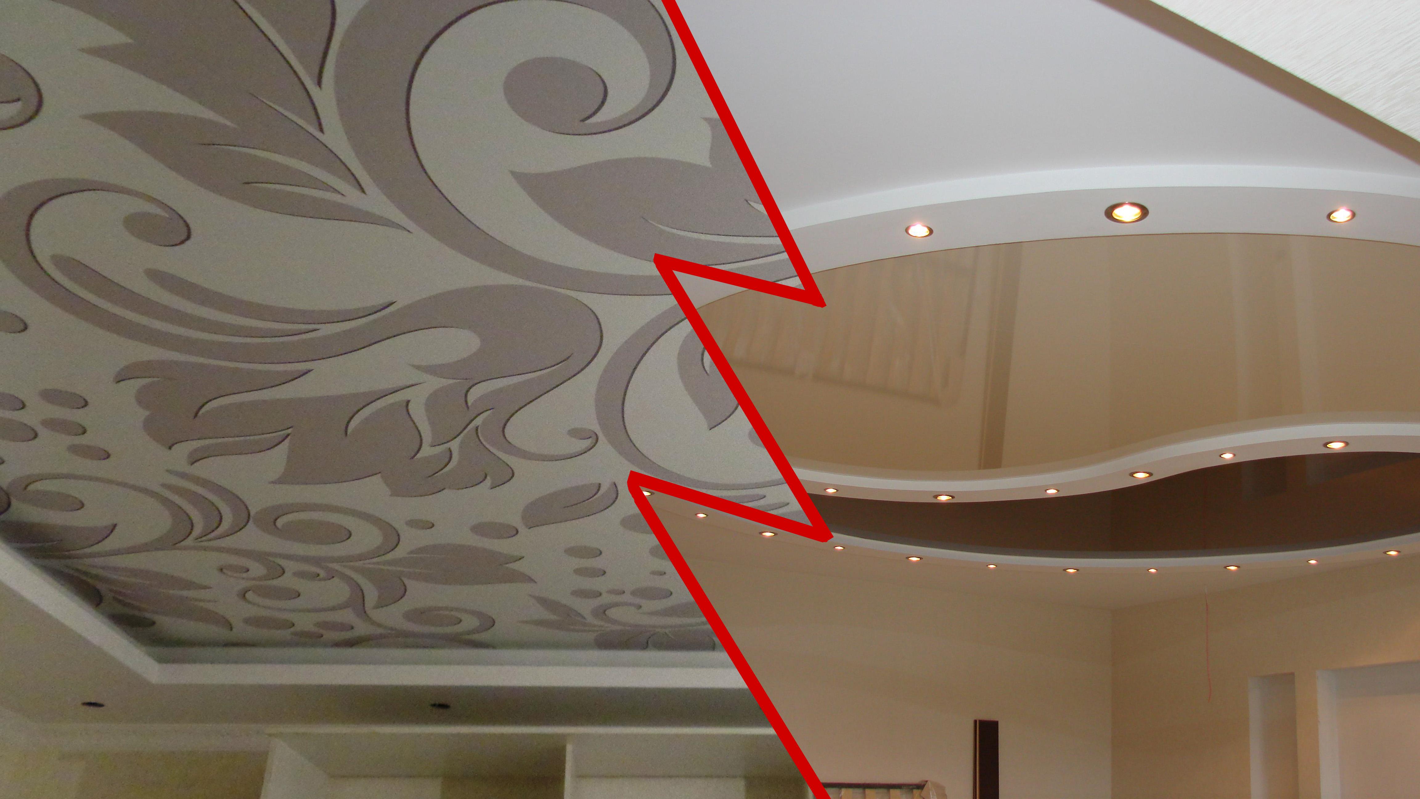 Сравнение тканевых и пленочных натяжных потолков