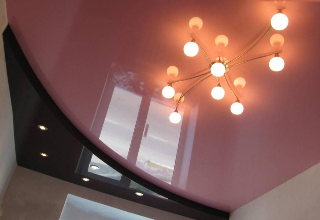двухуровневая конструкция без подсветки