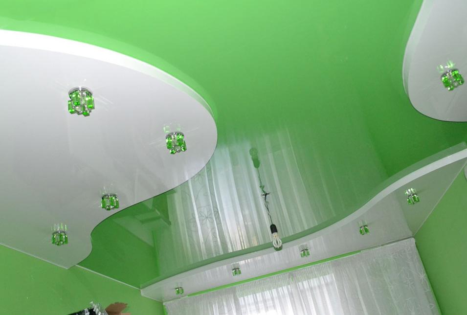 натяжной потолок двухуровневый