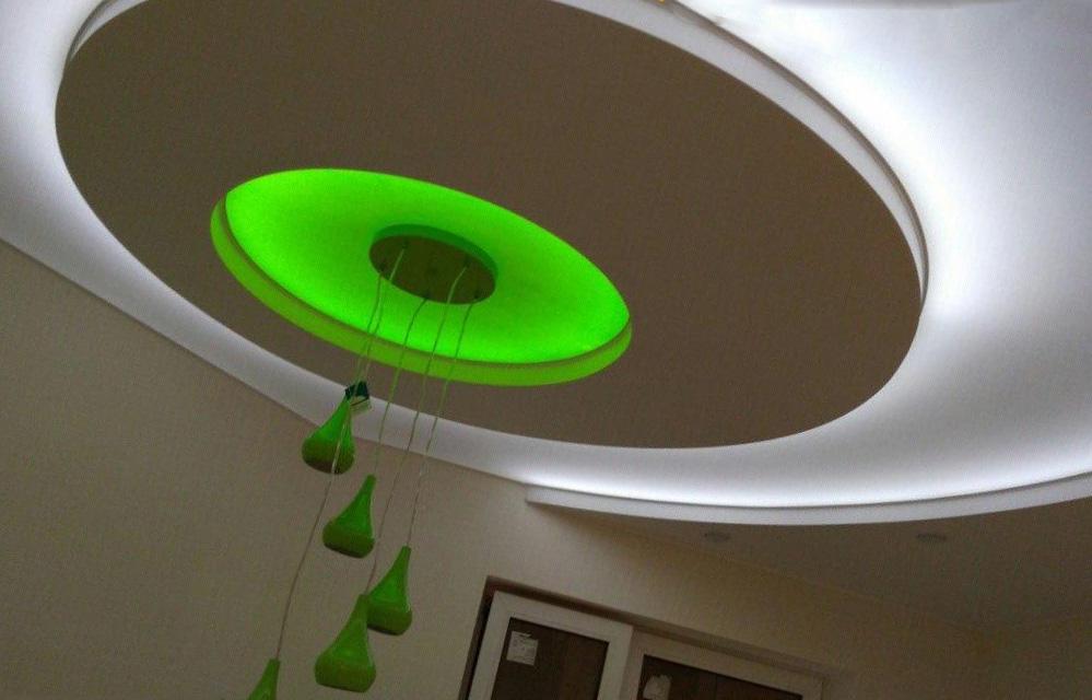 подцветка для многоуровневого потолка