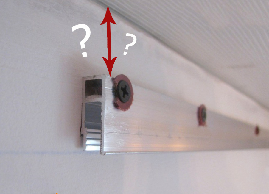 расстояние от потолка до полотна натяжного потолка