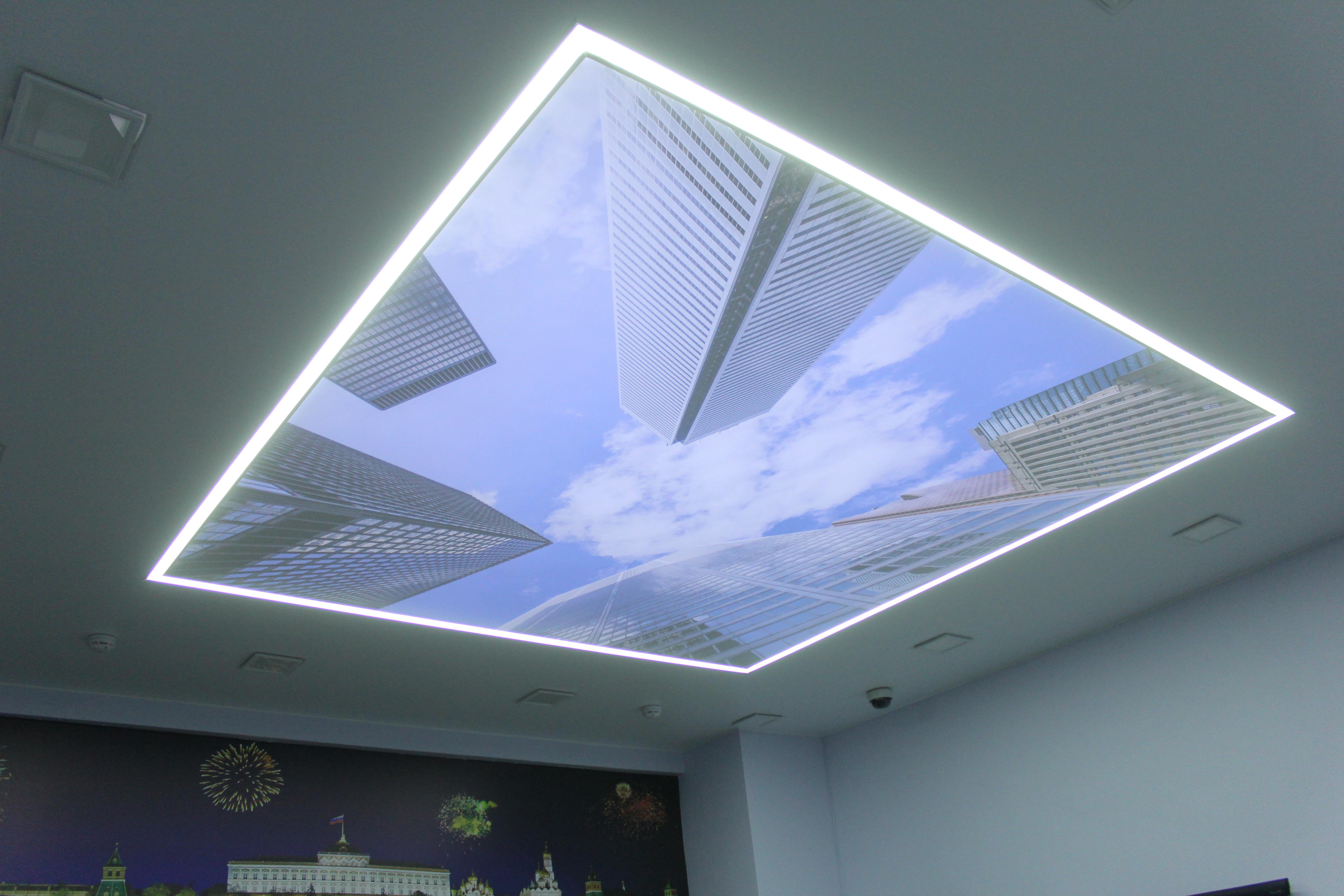натяжной потолок полупрозрачный