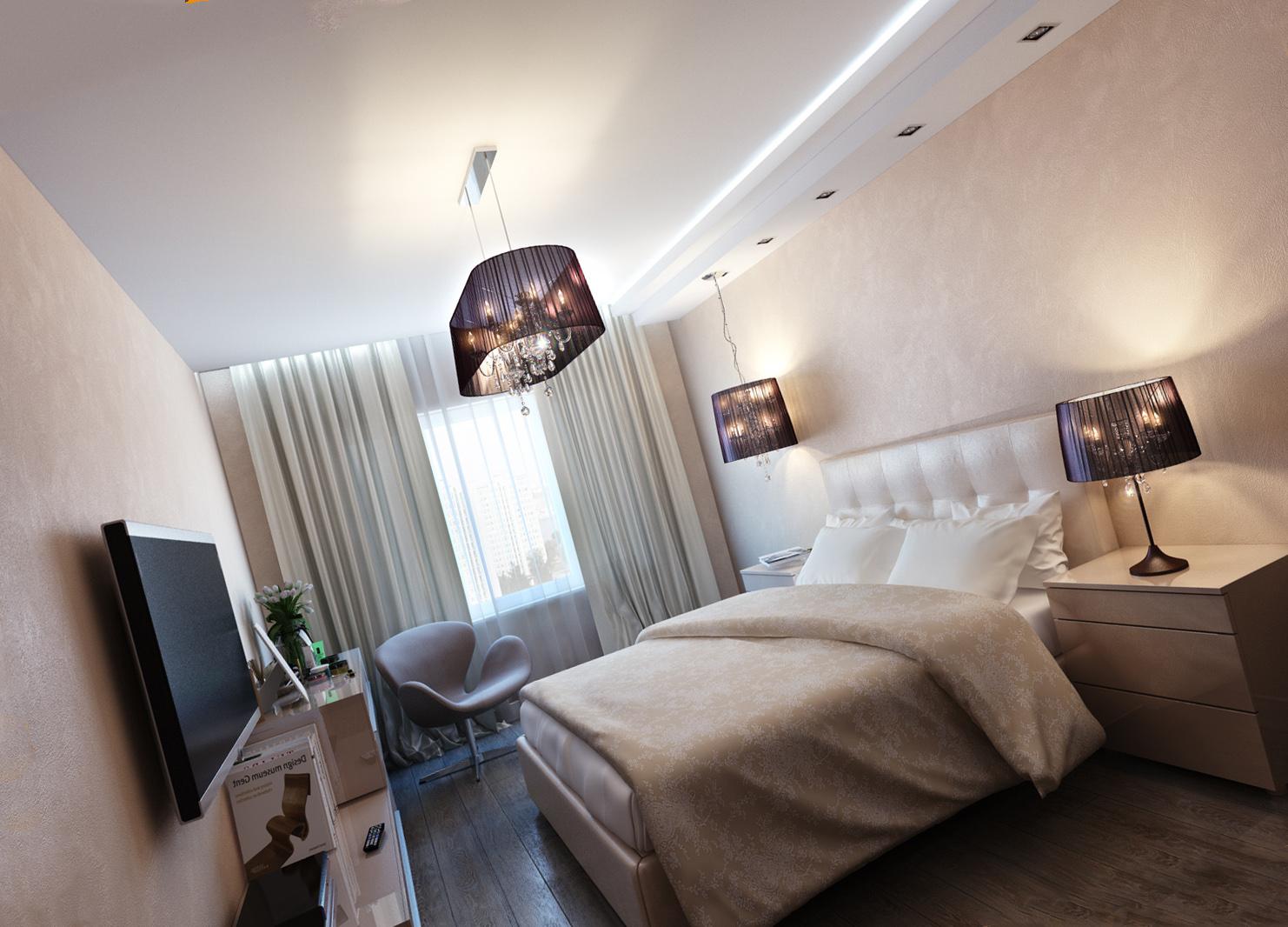 Какой натяжной потолок выбрать в спальню