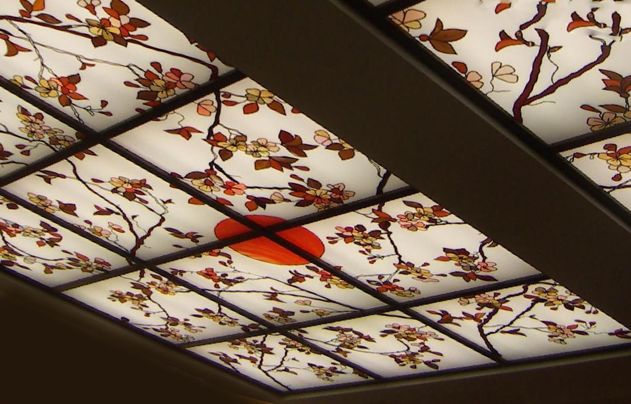 Натяжные потолки в восточном стиле