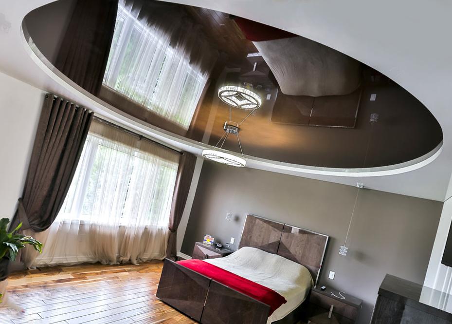 Круглый двухуровневый потолок: особенности и технология монтажа