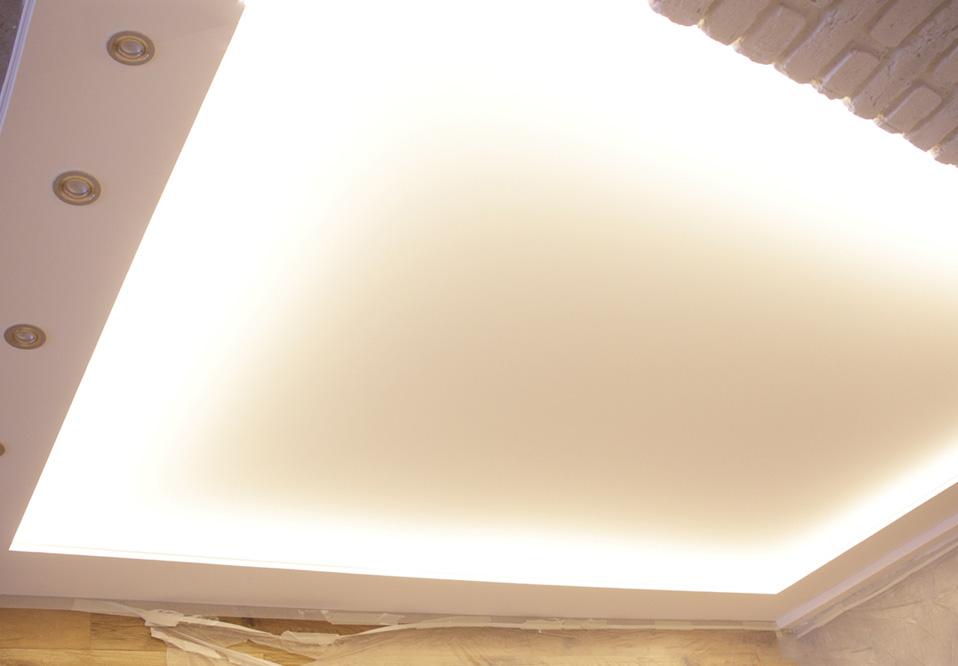 Светящиеся потолки с запотолочной подсветкой