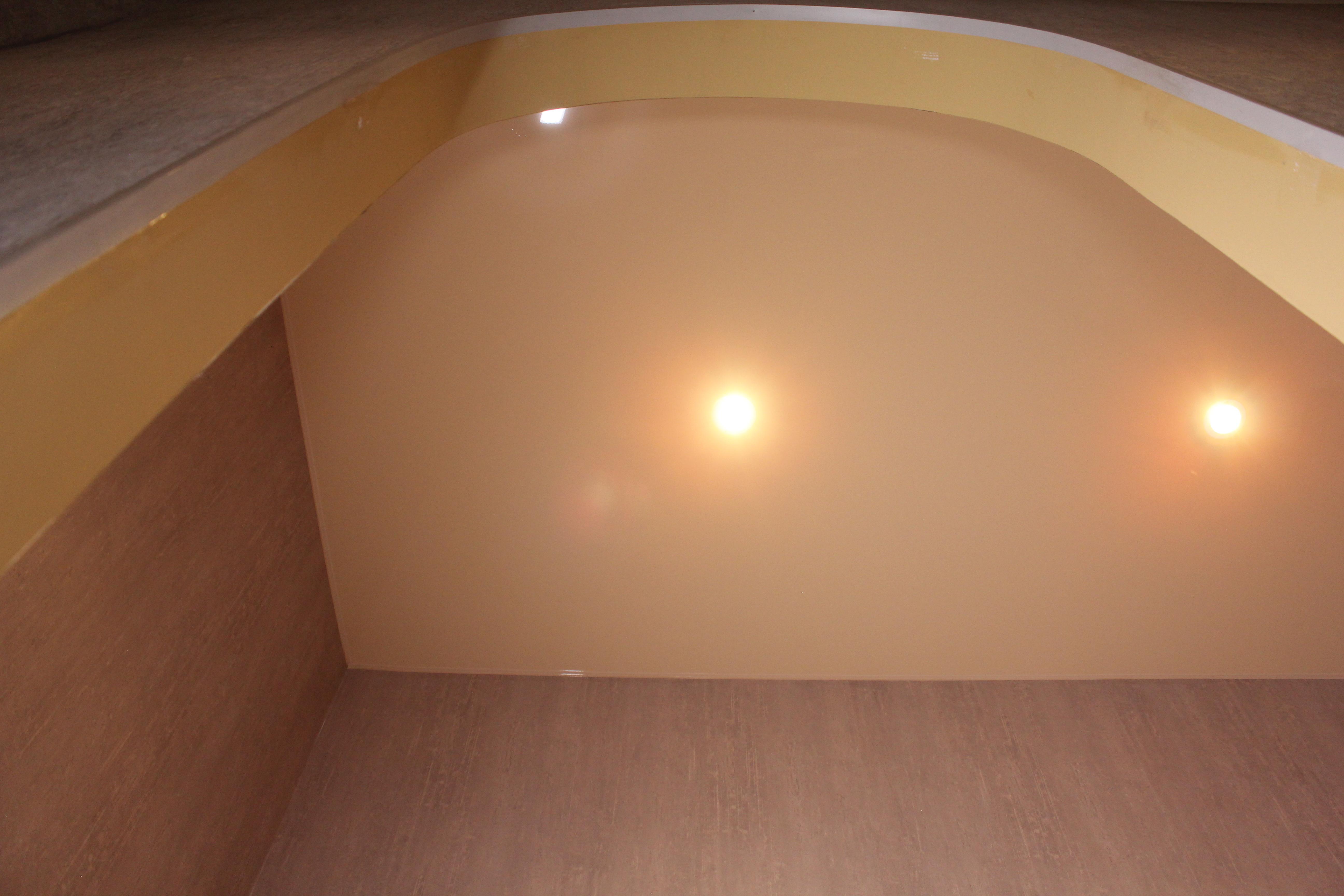 материал натяжного потолка для загородного дома