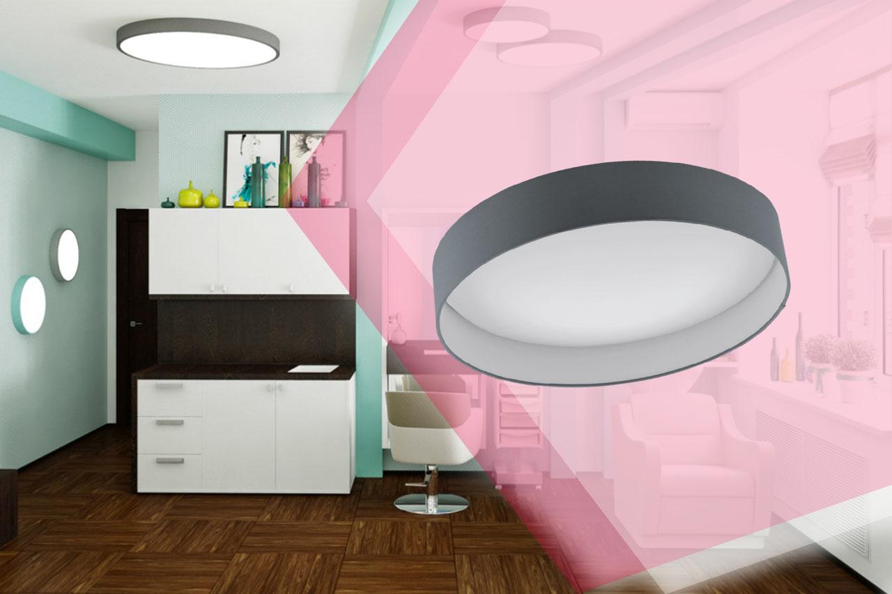 Светодиодные потолочные круглые светильники большого диаметра