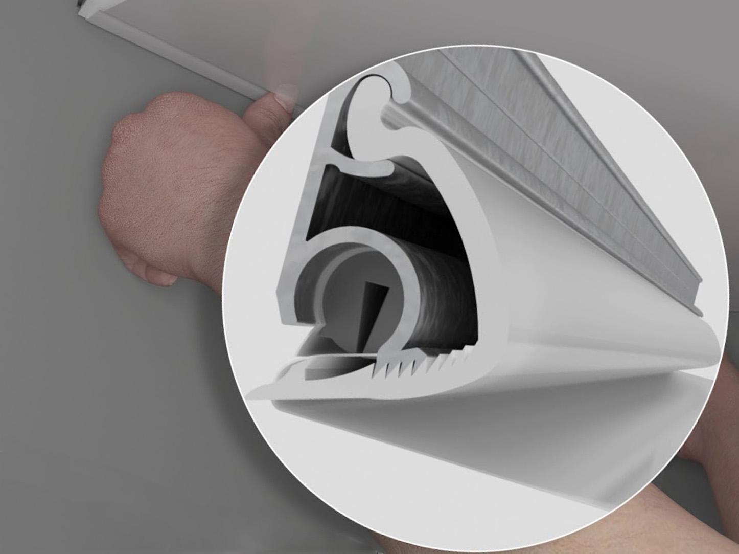 Крабовый профиль для установки натяжных потолков