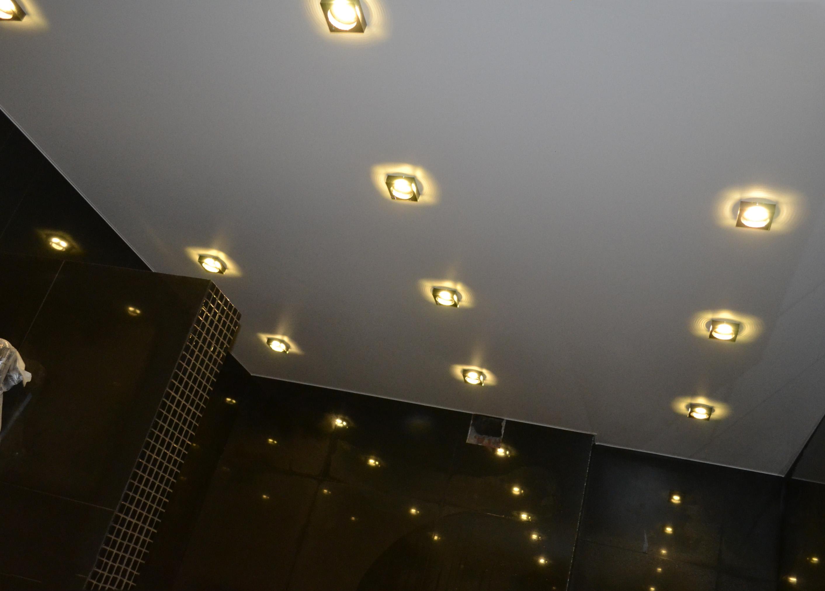 Размещение точечных светильников