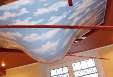 Какой потолок может удерживать воду?