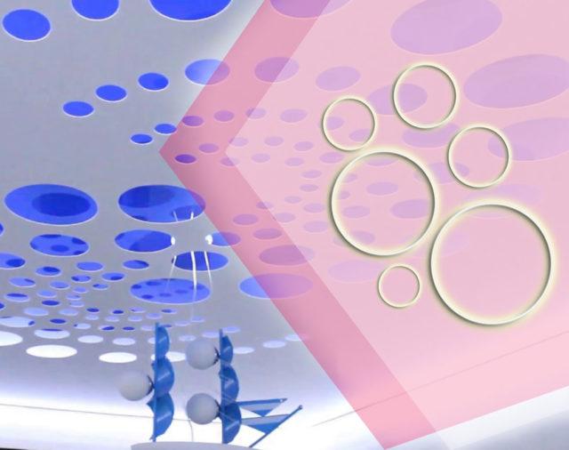 Резной потолок с подсветкой