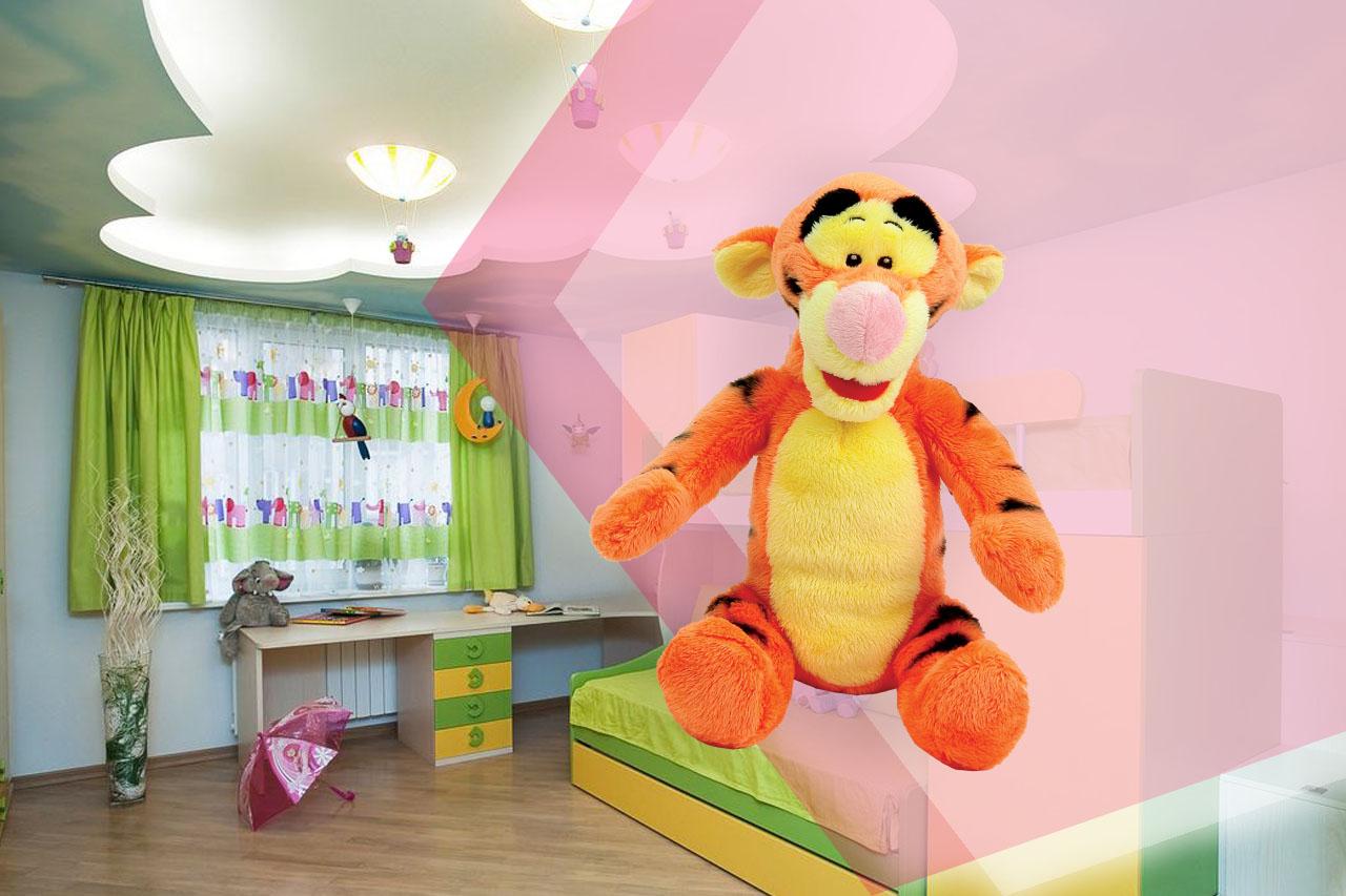 Безопасно ли использовать натяжной потолок в детской комнате?