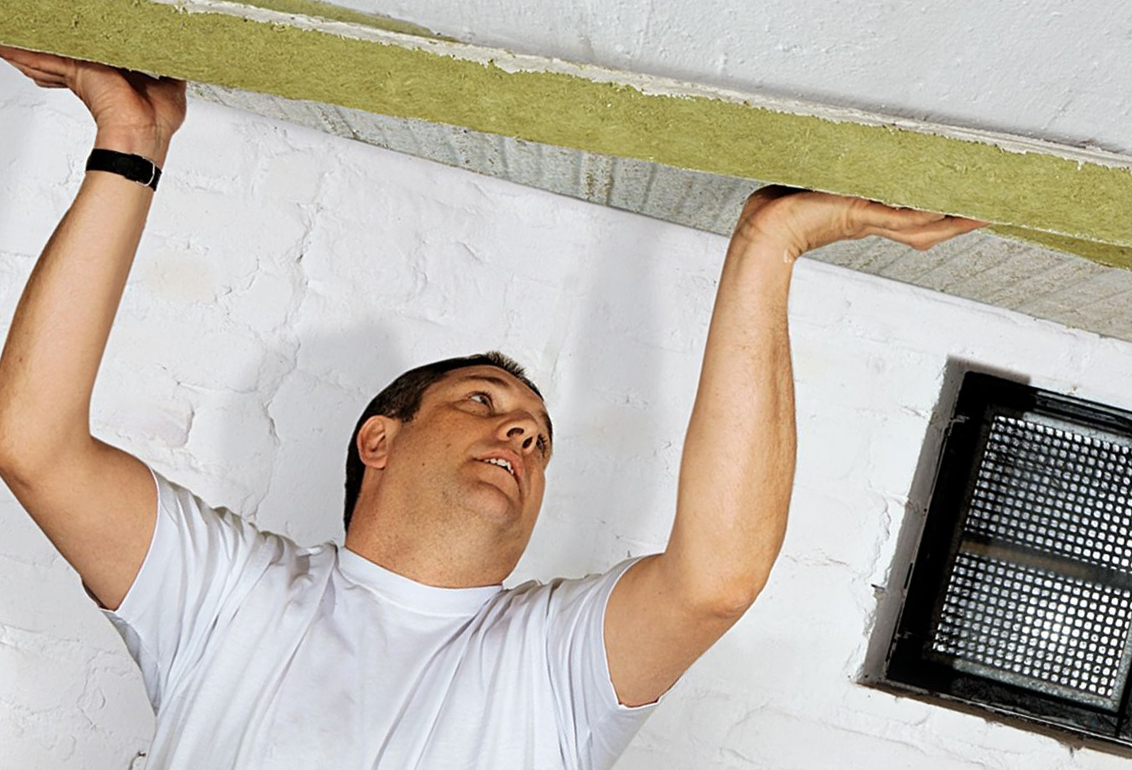 Утепление под натяжной потолок