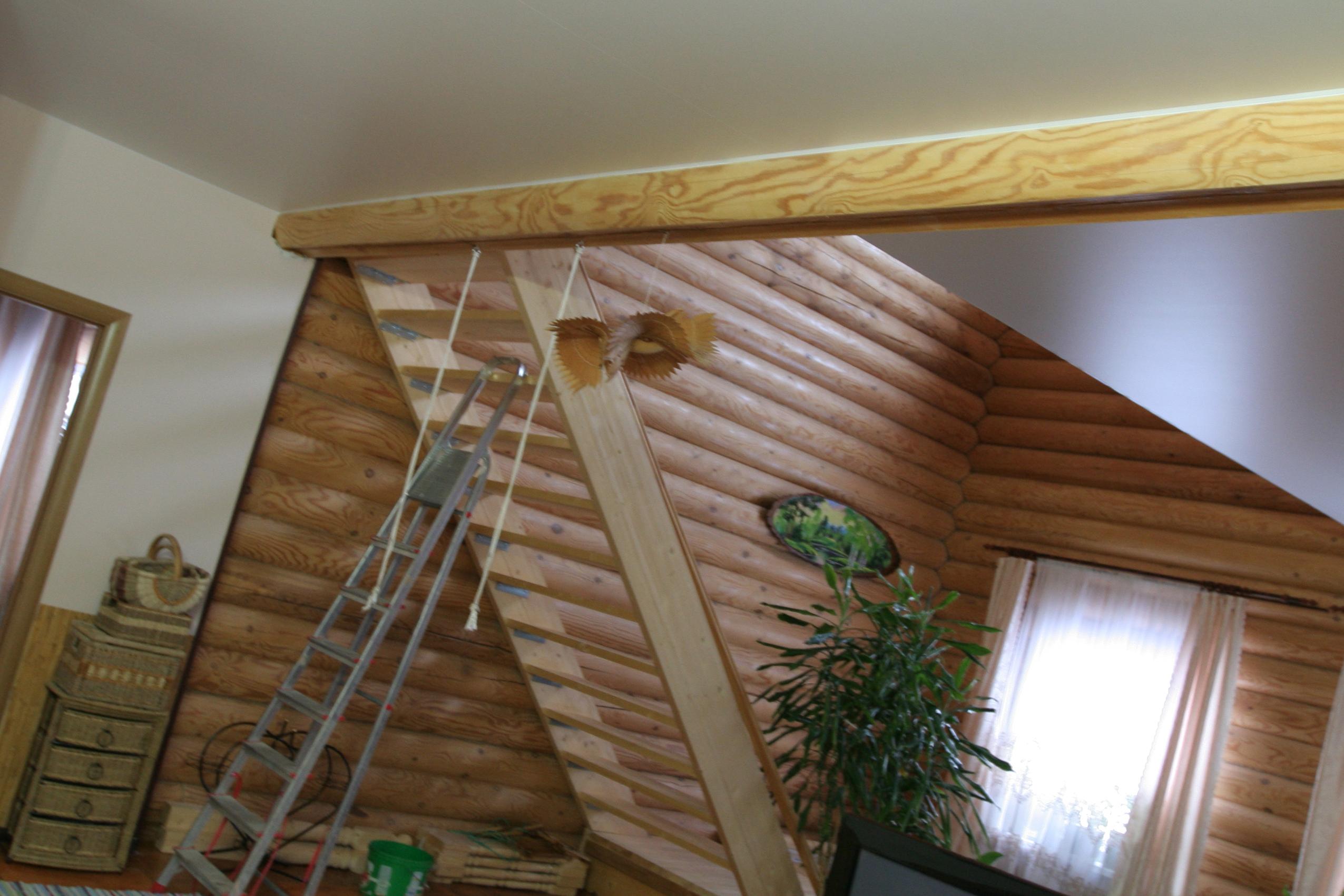 Установка натяжных потолков в деревянном доме
