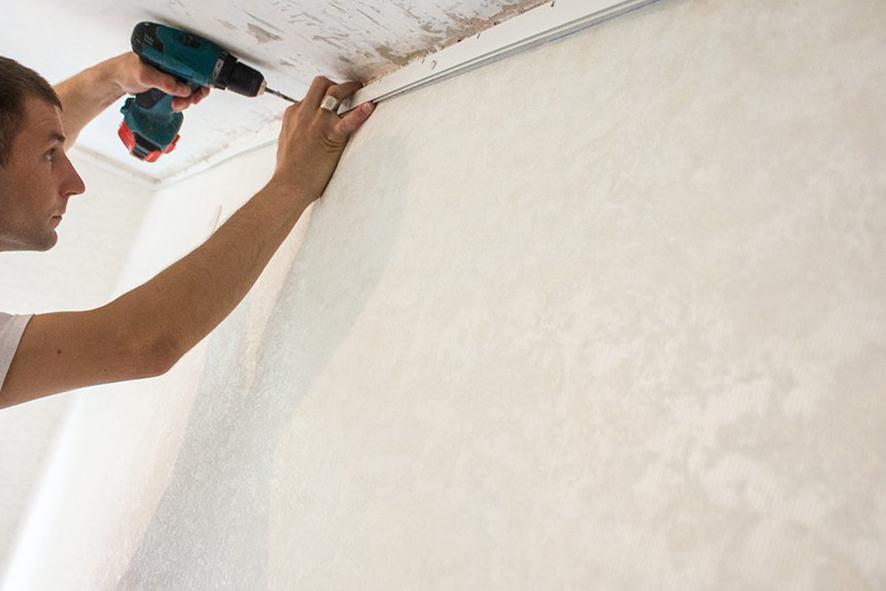 Как крепится натяжной потолок к стенам Москва