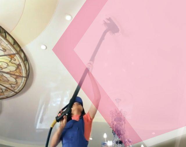 Сложно ли мыть натяжной потолок и как это делать правильно