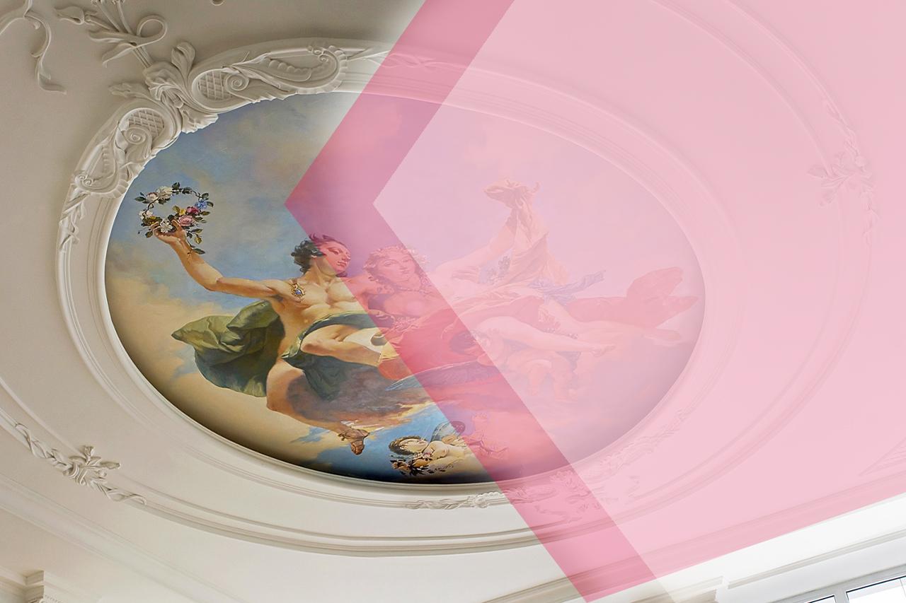 Креативное оформление интерьера – фотопечать фресок на потолках и стенах от «АстамГрупп».