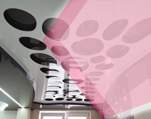 Натяжные потолки из двух и более полотен – дизайн, вызывающий восторг.