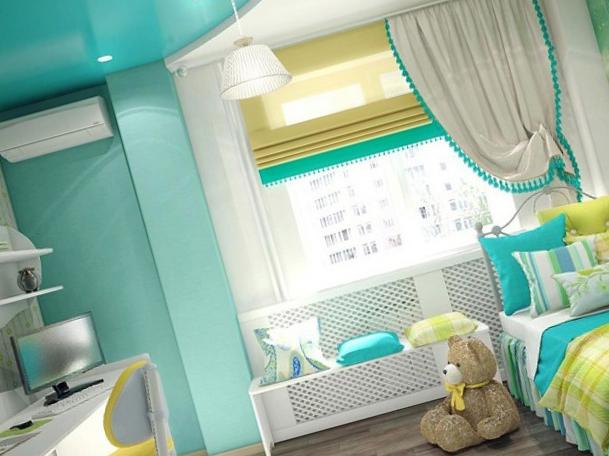 Цвет потолка в детской – советы по ремонту от специалистов компании «АстамГрупп»