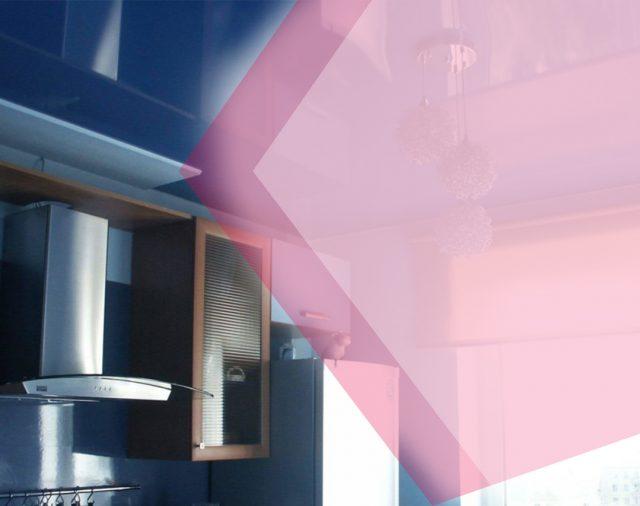 Глянцевый потолок на кухню – идеальное решение для ремонта от специалистов «АстамГрупп»